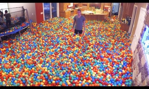 Plastic Ball Prank - BEST DAD EVER