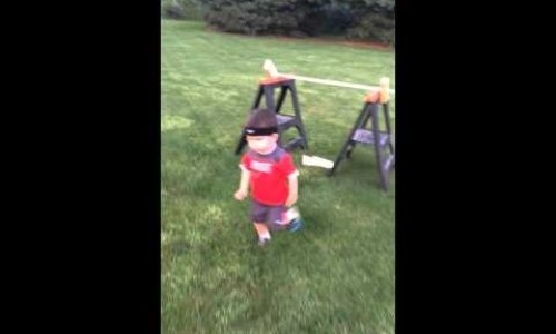 Toddler Aces American Ninja Warrior Course
