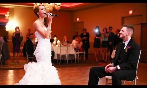 Bride Sings for her Groom
