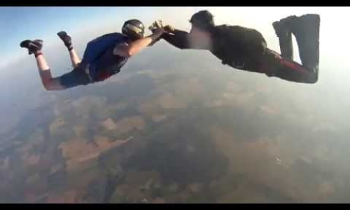 Scary! Free falling from 3000 meters