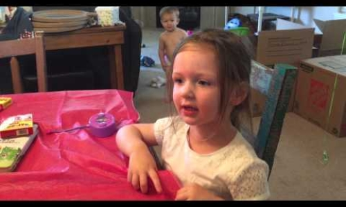 Little Girl Worried Uncle will Ruin her Bday